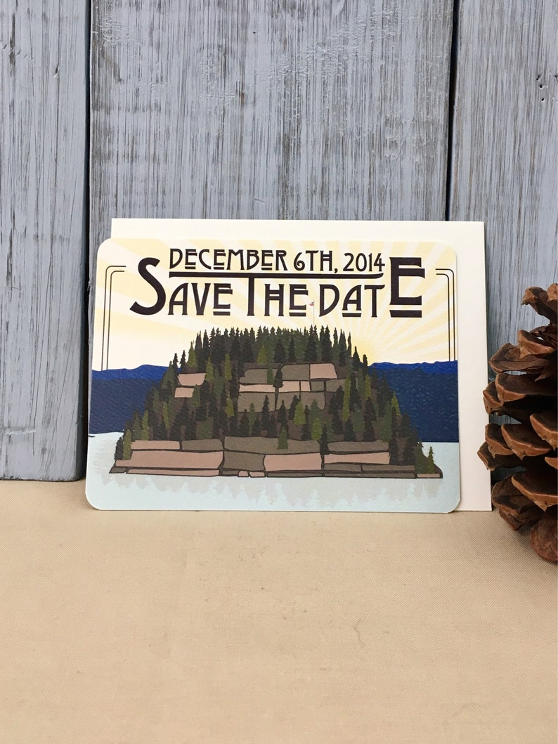 Starved Rock State Park Illinois Save the Date Notecards with A2 Envelopes