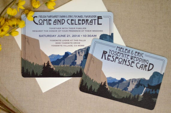 Yosemite Wedding Invitations: Yosemite Tunnel View Craftsman // Wedding Invitation With