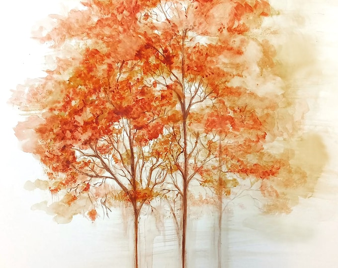 Autumn- Watercolor painting