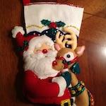 Handmade Bucilla Christmas Stocking