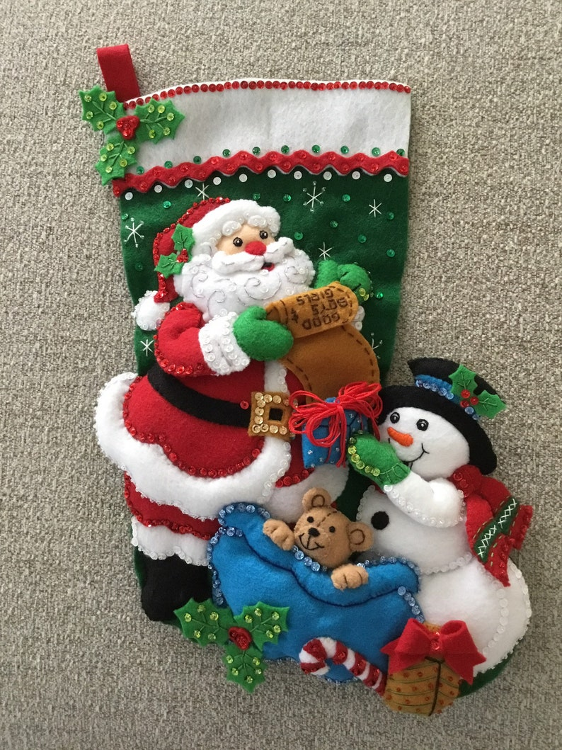 Bucilla Handmade Christmas Stocking image 0