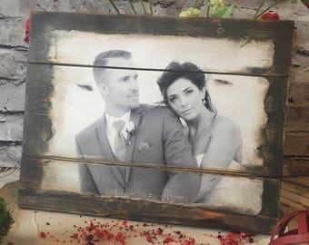 Wood Photo Transfer Barnwood, pallet photo, picture transferred to wood, photo on wood,pallet art, rustic images, rustic wood photos