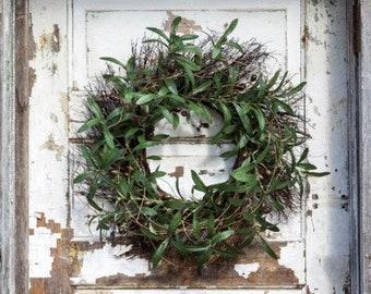 Olive + Twig Wreath