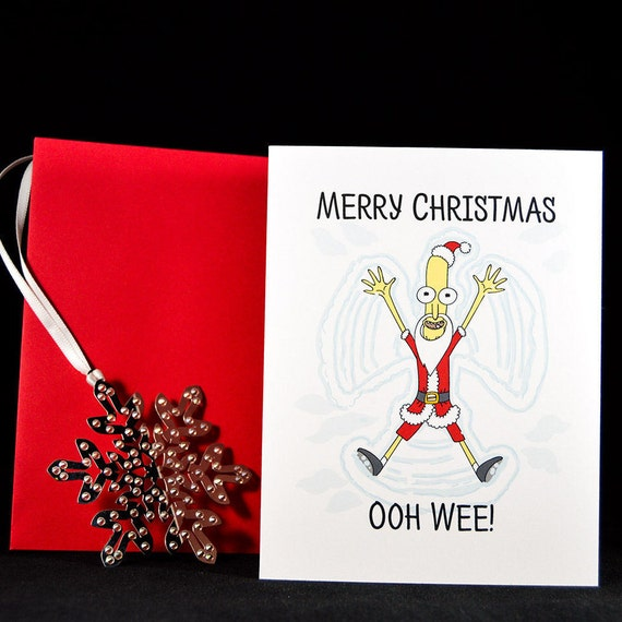 Merry Christmas Ooh Wee Card Christmas Card Pop Culture Etsy Schoolclick to expand jessica, brad, principal gene vagina, mister goldenfold, frank palicky, toby matthews, coach feratu. etsy