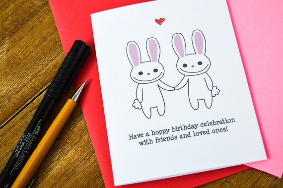 Punny Bunny Happy Birthday Cards Pun Greeting Card Cute