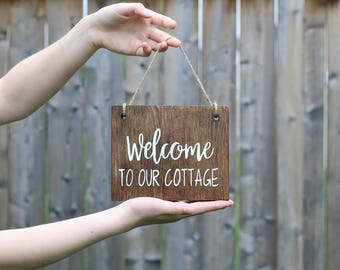 Cottage Signs - Cottage Decor - Beach Cottage Decor - Rustic Cottage Decor - Coastal Cottage Decor - Rustic Wood Signs - Wood Wall Art