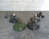 Lot of 6 vintage industrial lamps factory