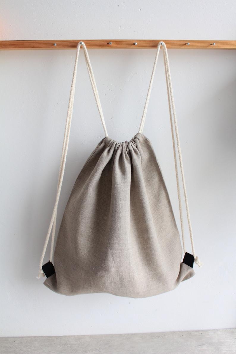 4fd11c2b8a Natural Linen backpack summer backpack Children Linen