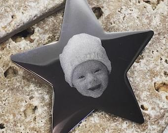 Celebration Star Photo Keyring