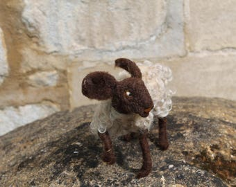 One of a Kind Needle Felted Lamb