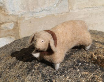 One of a Kind Needle Felted Sheep
