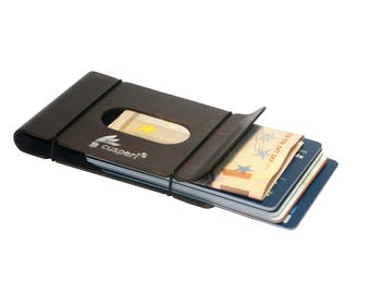Money Clip Minimalist Wallet credit card case and business card case in one-made of curved wood-a noble little wallet