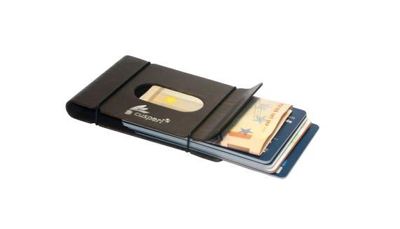 Geldklammer Minimalist Wallet Kreditkartenetui Und Visitenkartenetui In Einem Aus Gebogenem Holz Ein Edles Kleines Portemonnaie