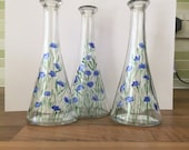 Small Vases - Hand painted glass vases