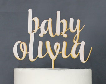 Personalized Baby Shower Cake Topper | Custom Name