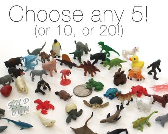 Set of Miniature Animals - Choose Any Set Terrarium Supplies Teeny Tiny Pack of Micro Animals Diorama Supplies Soap Making - READY TO SHIP!