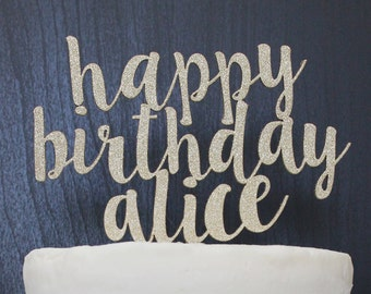 Personalized Birthday Cake Topper | Custom Name | Shortcake Collection