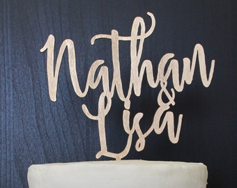 Personalized Names Wedding Cake Topper | Custom Name | Marzipan Collection