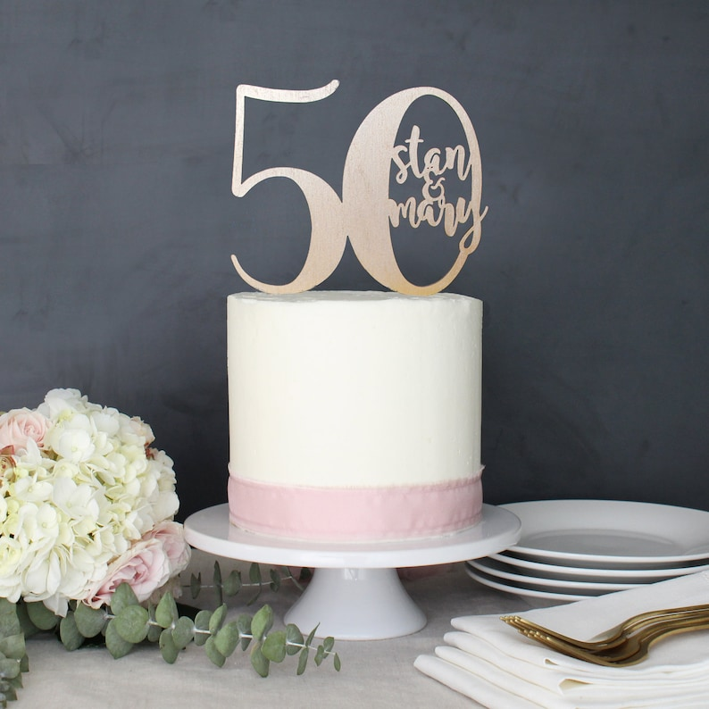 50th Anniversary Cake Toppers