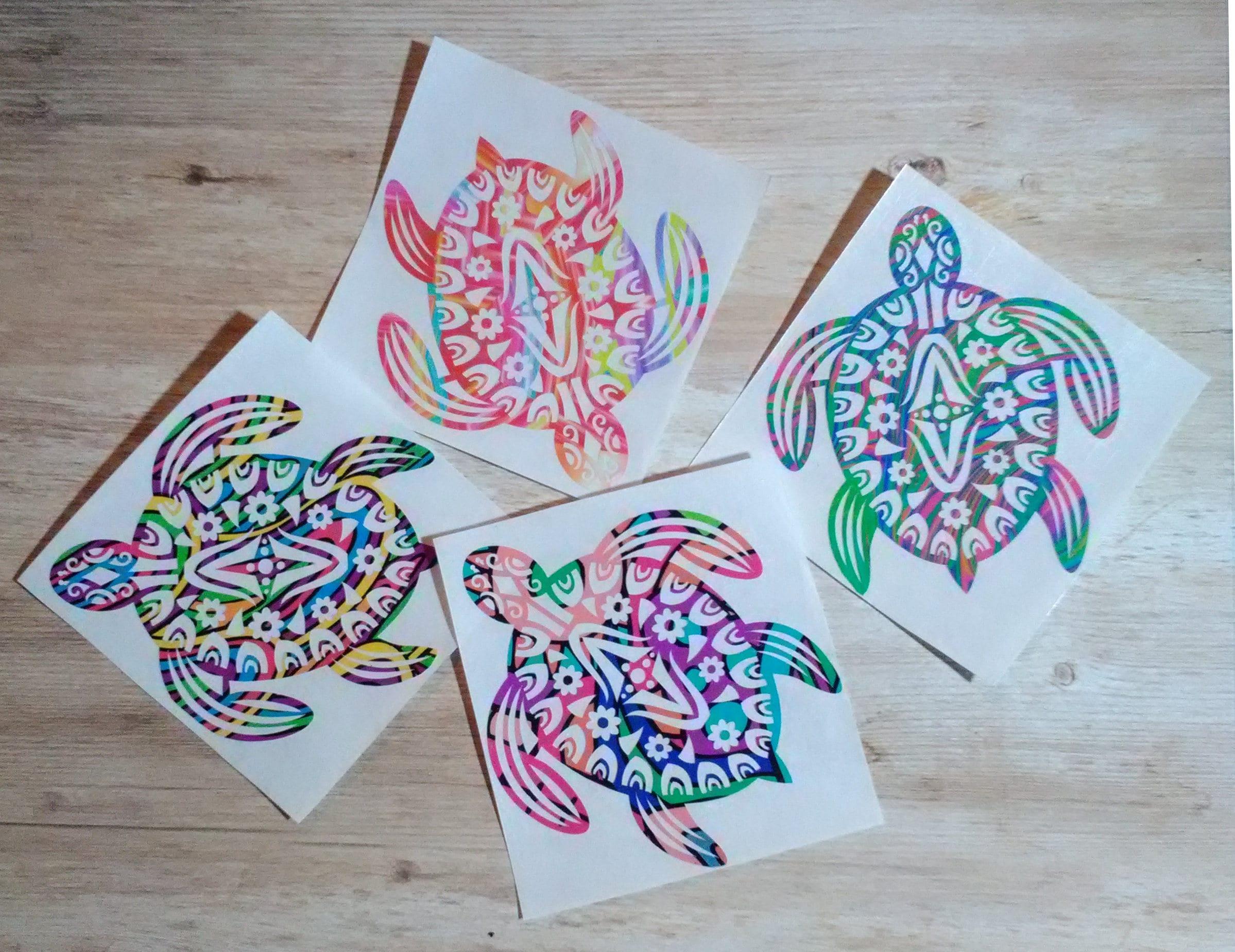 Gobelet voiture motif mandala mer tortue sticker 8 mod les etsy - Voiture tortue ...