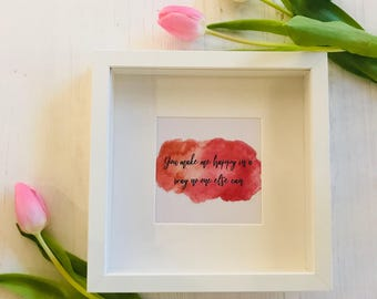 You Make Me Happy Framed Print