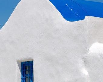 Matted Photo Print - Blue Window, Paros