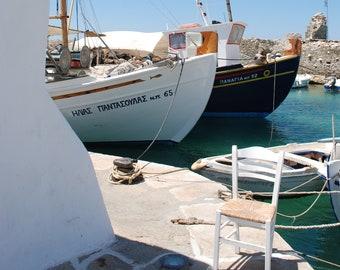 Matted Photo Print - Naoussa Harbor #2, Paros