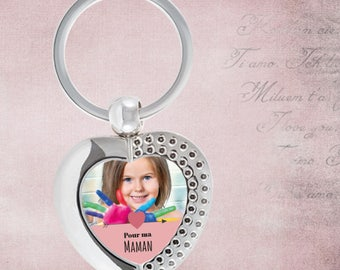 Personalized Keychain with your photo - gift idea birthday mum MOM - mothers - Christmas gift MOM