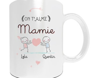 "Christmas gift Grandma - Mug to be personalized ""We love you Grandma"" - grandmothers day gift"