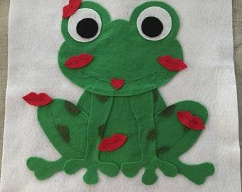 Felt Kiss a Frog Game Pattern -  PDF PATTERN ONLY