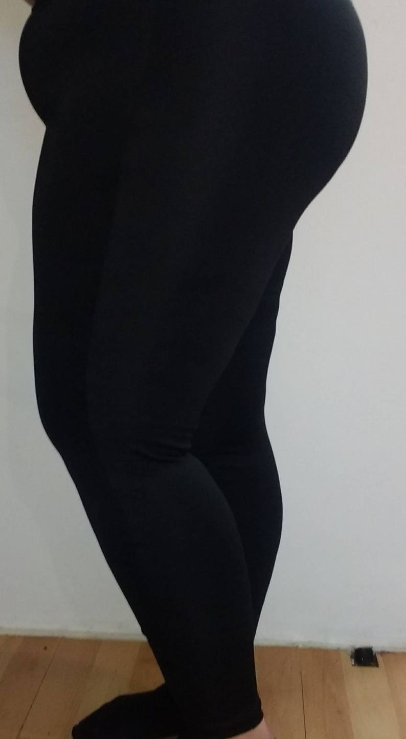 f2cf0d79d9a Black stretchy Spandexthick good quality Plus size leggings