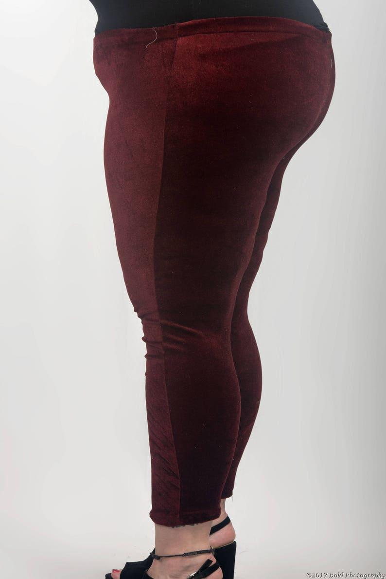 a67355ab220c12 Red Velvet Plus size leggings Fashion leggings yoga   Etsy