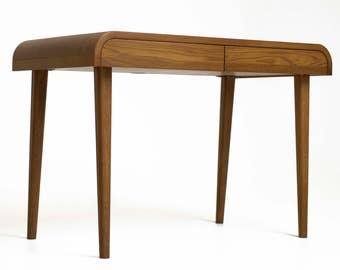 Computer Desk, Mid century Desk, Console Table, Solid Wood Desk, Office Desk, Industrial Desk, Writing Desk, Small Desk, handmade Work Desk