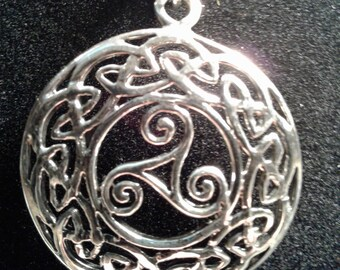 Sterling silver Celtic knot pendant (4)