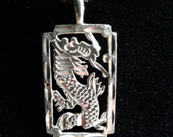 Diamond Cut Sterling Silver Chinese Zodiac Year of the Dragon Charm
