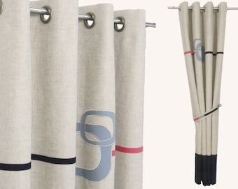 masculine window treatments peaceful funky black red grey minimalist linen curtains masculine two tone window drapes unique curtains custom sizes and stripe colours brown curtain white curtains organic cotton etsy