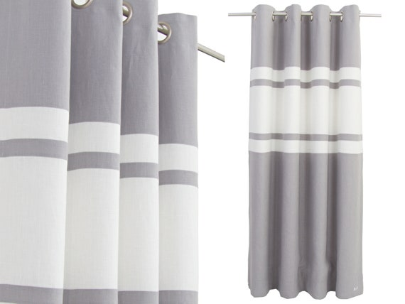 Grey White Linen Curtains, Living Room, Grey Linen Drapes, Minimalist  Curtain Panels, White Gray Bedroom Decor, Made to Measure Curtains.