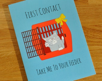 Cute Cat Card 24% Price Reduction - Designed and Printed in the UK - cards for cat lovers