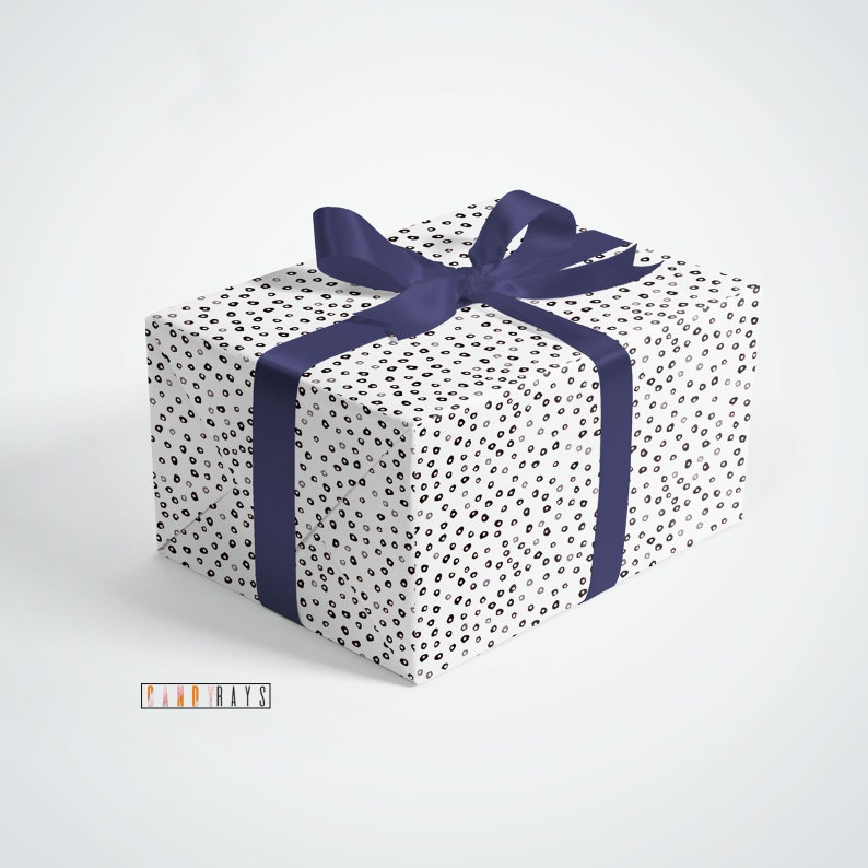 For him Patterned Sheets Birthday Celebration Gift Wrapping For Her Wrapping Paper Dot Pattern Birthday Gift For Mum Present Paper