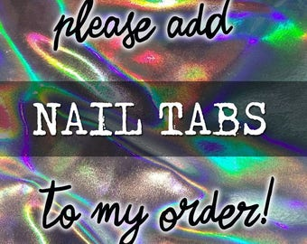 Please Add 24 Strong Adhesive Nail Tabs To My Order - Jelly Double Sided Tape for False Press On Nails - Choose Quantity