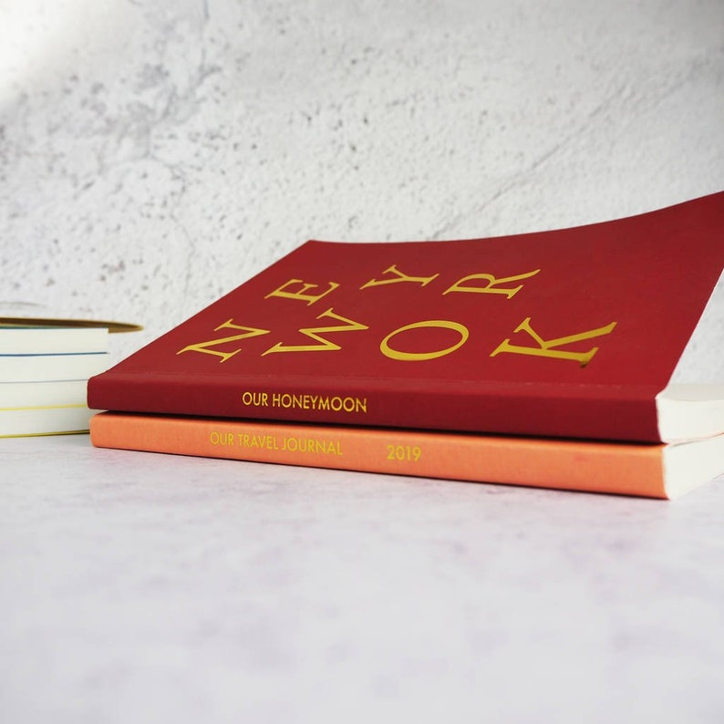Personalised Cover And Spine Foil Destination Notebook