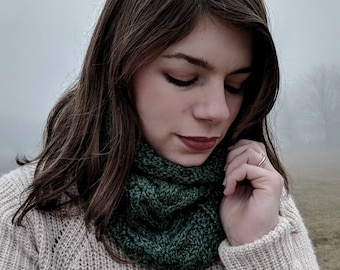 Cable Knit Cowl Etsy