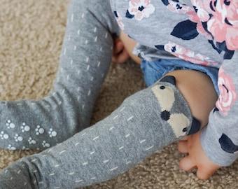 Baby RACCOON SOCKS - PERSONALIZED, Knee High Fox Socks, Animal Socks, Socks with ears, Toddler Fox Socks, Toddler Knee Hight Socks