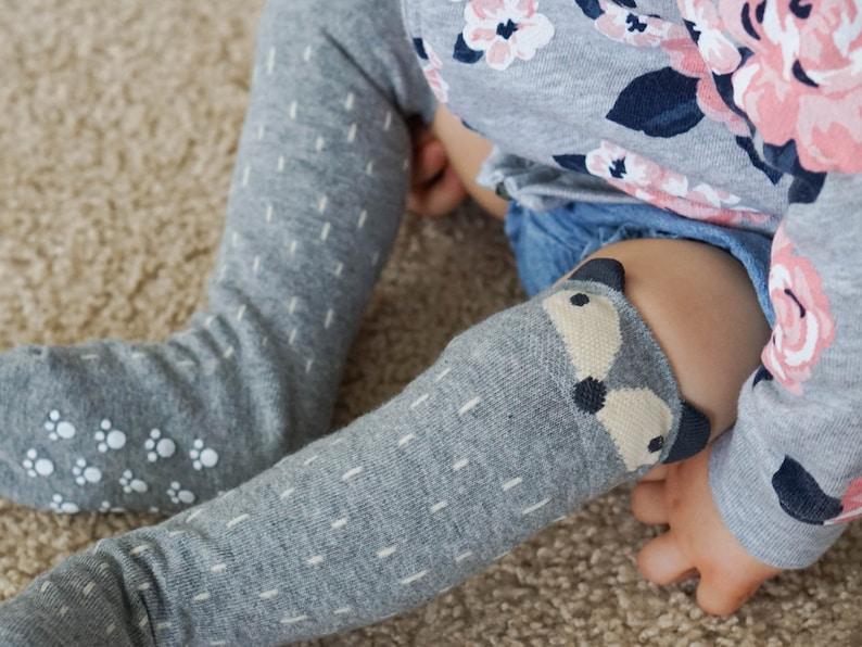 db42a800b Baby RACCOON SOCKS PERSONALIZED Knee High Fox Socks Animal