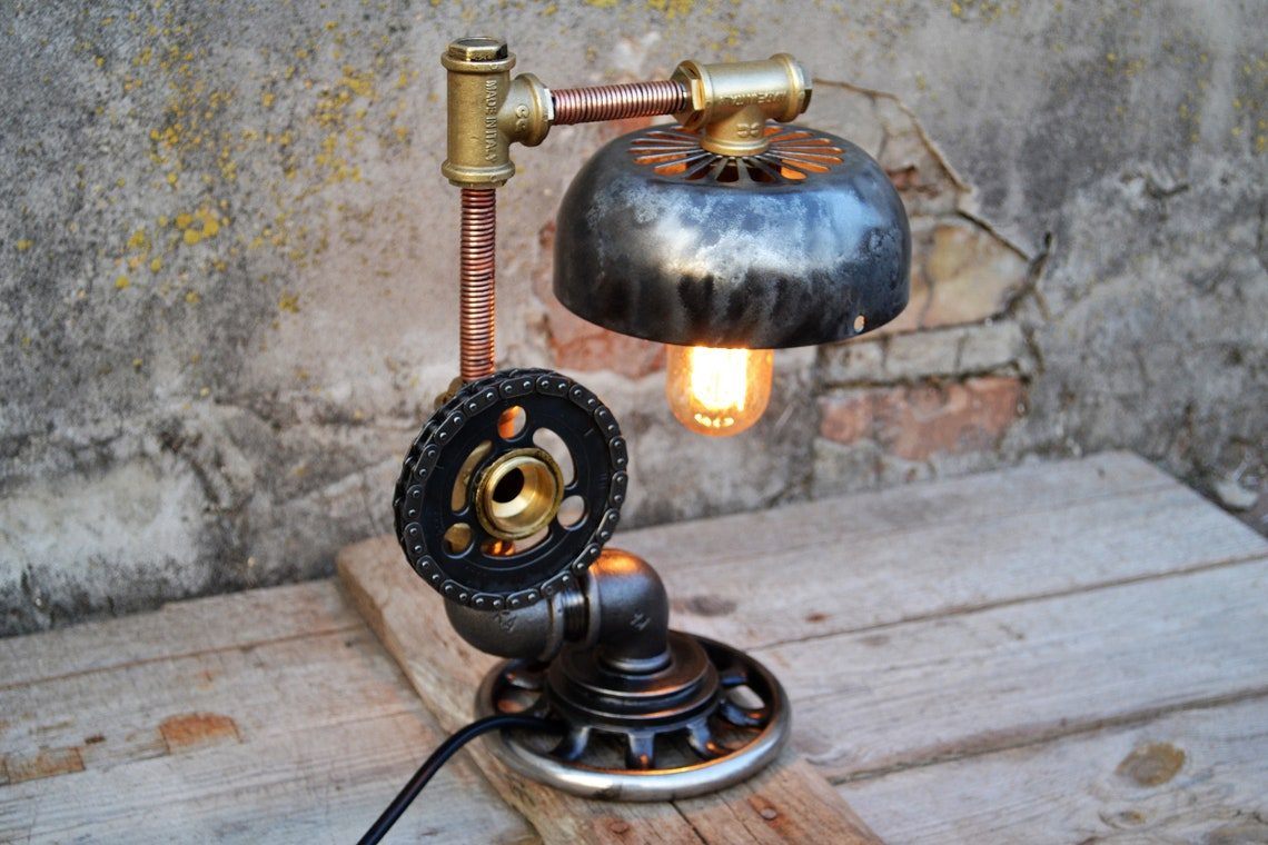 Industrial Lighting Table Lamp Home Decor Desk Lamp Edison Steampunk Lamp Gift For Men Rustic Home