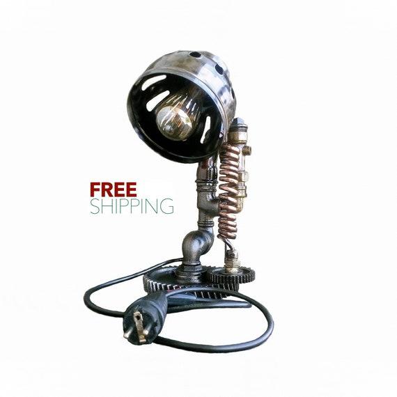 Lampe Industrial Lampe Industrial Style Ooak Gift Pipe Lamp Etsy
