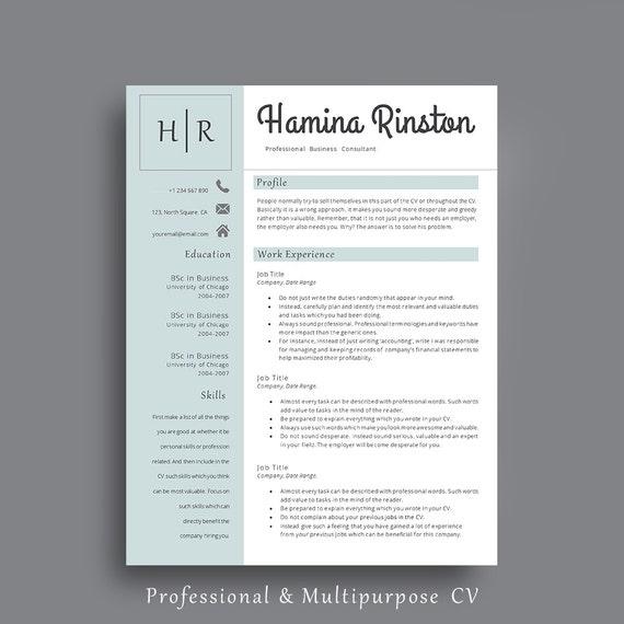 Resume Template Professional Resume Template Impressive Cv Elegant Cv For Any Job Application Cv Template Creative Resume Template