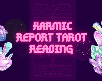 Karmic report and lessons | Soul Purpose | Past lives | Tarot reading | Karma clearing | Astrology and Tarot Reading | fast shipping