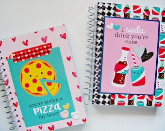 Small Notebook | So Punny Notebook | Pocket Notebook Handmade | Spiral Notebook | Scrapbook Notebook | Notepad | Notes | ZION Scrapbooking