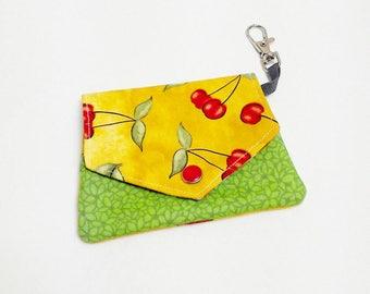 Money purse , gift card purse, coin purse Cherry love